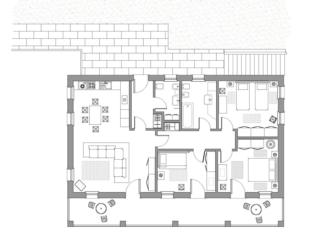La casa de piero vivere nelle dolomiti for Pianta del piano casa di 800 piedi quadrati
